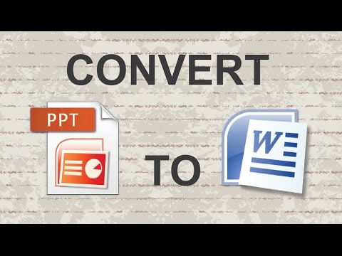 Powerpoint To Word Transfer|How To Convert Word Documents To Powerpoint |Convert Powerpoint To Word