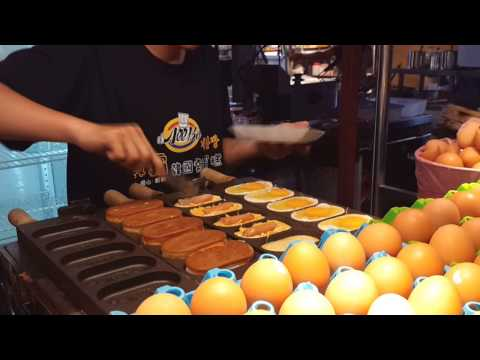 [食記] 高雄瑞豐夜市「歐霸韓國雞蛋糕」一整顆土雞蛋耶 ~食指大動TV