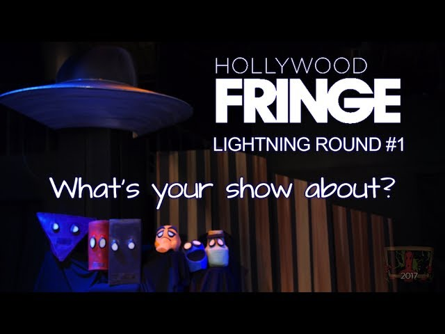 Lightning Round #1: What's your show about?