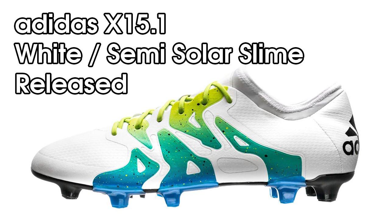 super popular 0b9a1 31b33 adidas X15.1 White / Semi Solar Slime / Core Black Released, Closer Look