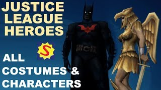 All Costumes & Unlockable Characters - Justice League Heroes