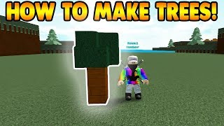 How To Make TREES! | Build A Boat For Treasure ROBLOX