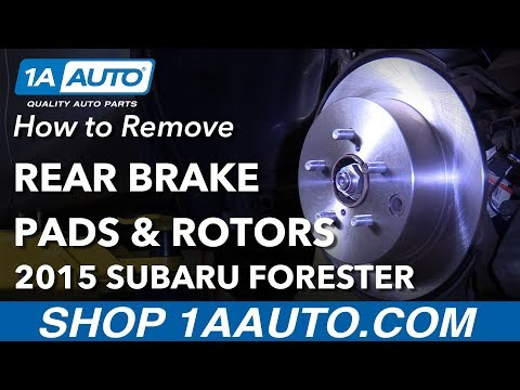 How to Remove Replace Rear Brakes 2015 Subaru Forester