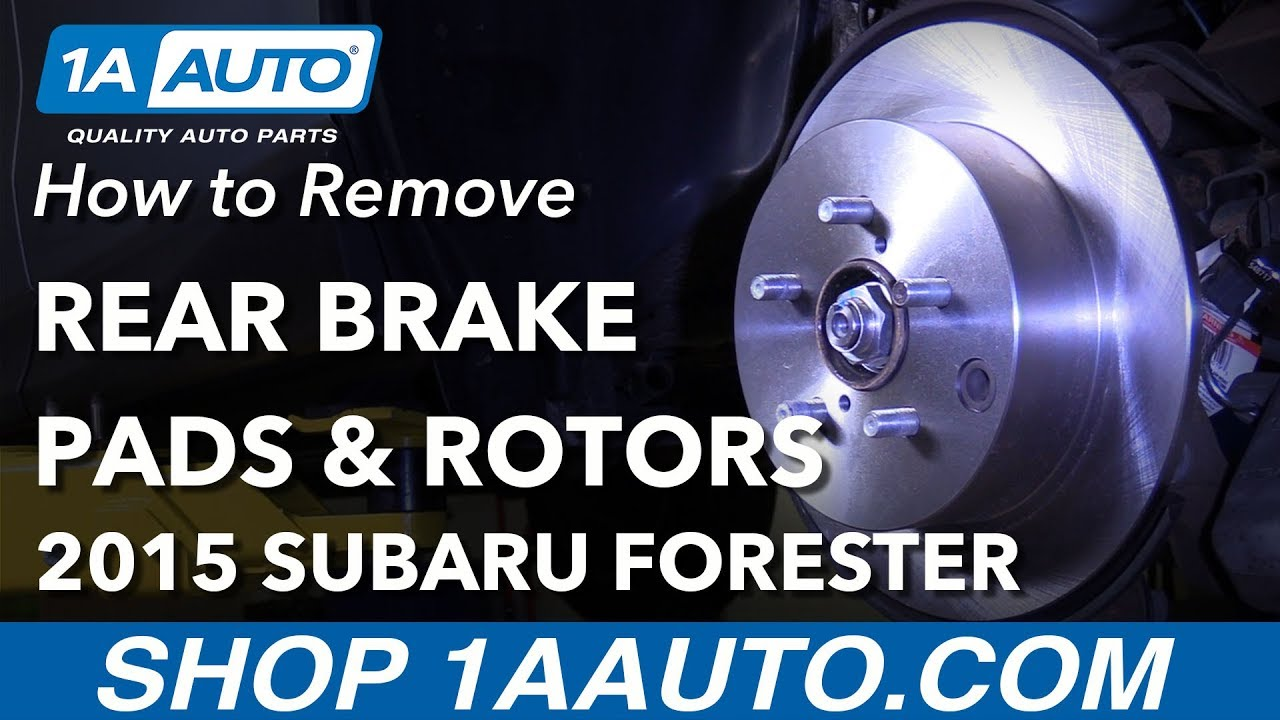 How To Replace Rear Brakes 13 18 Subaru Forester Youtube Axle Diagram