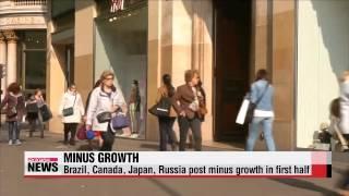 World economy suffers low growth amid continuing China woes   세계곳곳 마이너스 성장, 신용등급
