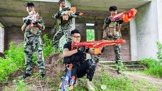 LTT Nerf War : Special Police SEAL X Warriors Nerf Guns Fight Criminal Group Hunter High-Tech