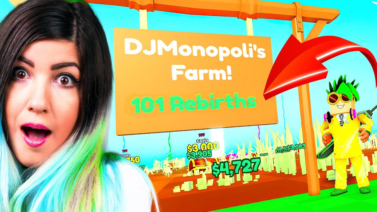 DJ got 100 REBIRTHS in his Roblox Farm.. AND I'M MAD!