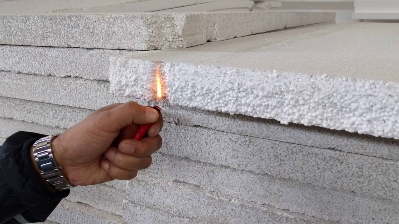 Expanded Polystyrene Foam Eps Can Be Fire Proof Youtube