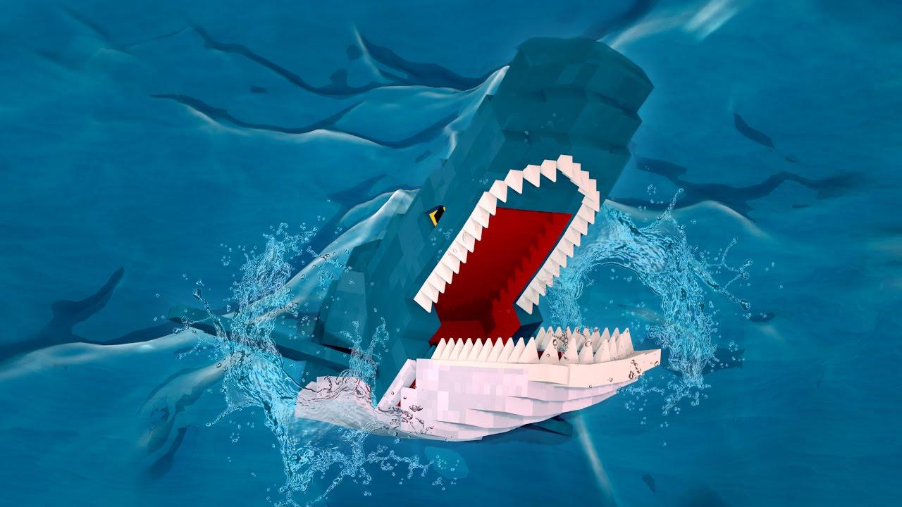 Minecraft | MURDER MAZE - TWO GIANT SHARKS KILL BABIES ...