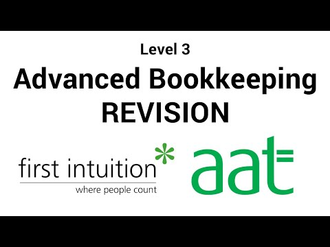 AAT Advanced Bookkeeping Revision Lecture 1- Disposals and Depreciation