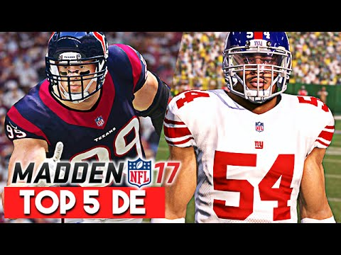 Madden 17 News | Top 5 Defensive End Ratings - Olivier Vernon a Top 5 DE?!