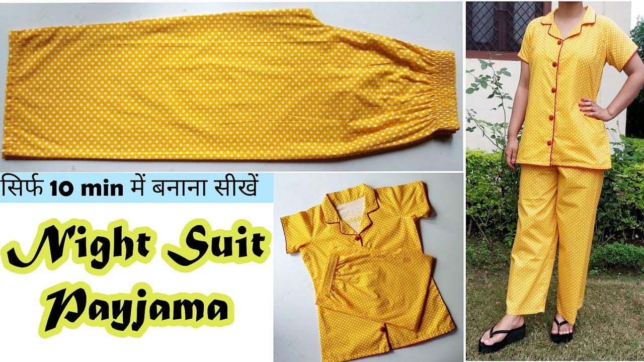 Download सिर्फ 10 minute में Night Wear Payjama बनाना सीखें | Night Suit Cutting And Stitching