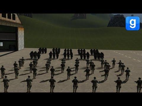 Umbrella Corp VS Military Battle Garry's Mod Sandbox Battles