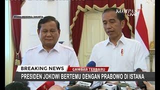 Bertemu Prabowo, Presiden Jokowi: Koalisi Belum Final, Kami Bicara Kemungkinan Gerindra Bergabung