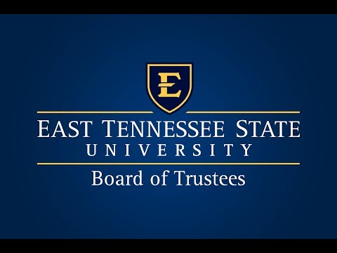 ETSU Board of Trustees 11-10-17
