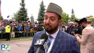 CP24: Ahmadiyya Muslim leader arrives in Canada