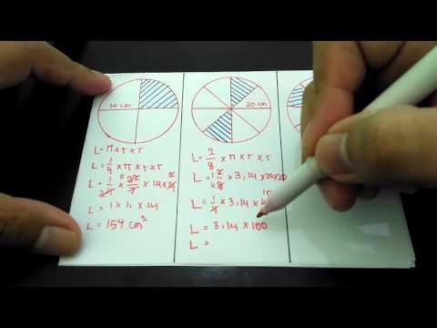 Menghitung Luas Lingkaran yang Diarsir -  Contoh Soal
