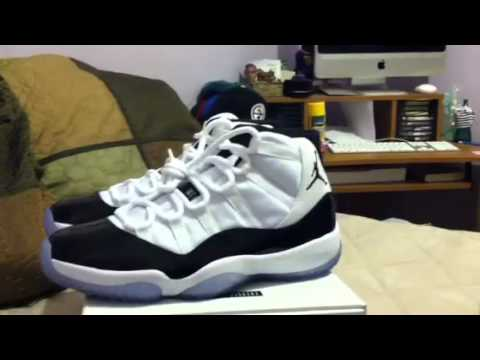 132a6490f88 Air Jordan 11 concord size 9 for sale - YouTube