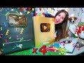 Мои Кнопки YouTube Обзор Золотая кнопка Моя Коллекция ютуб  | Elli Di