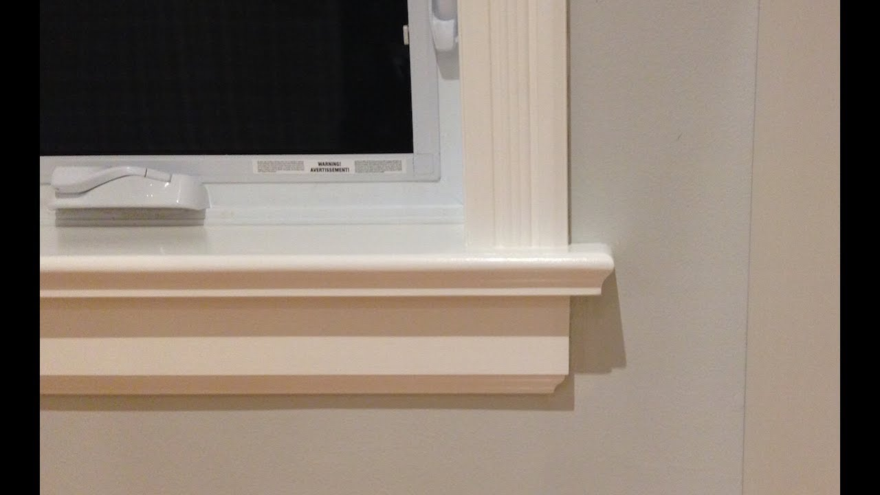 How To Make Window Sills Amp Apron Youtube
