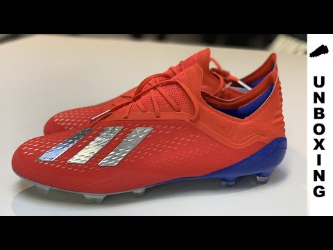 c2fc8bf6b adidas X 18.1 FG/AG Exhibit - Action Red/Silver Metallic/Bold Blue ...
