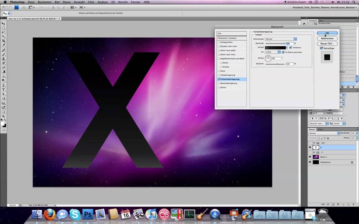 Mac os x wallpaper erstellen photoshop hd youtube - Wallpaper erstellen ...