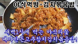 [빅풋]먹방41 야식먹방 김치참치볶음밥 이시간대 이걸 …