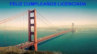 Licenciada   Landmarks & Lugares Famosos - Happy Birthday