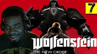Wolfenstein The New Order Gameplay Walkthrough Part 7 - 2 Robots - Wolfenstein Gameplay Black Guy