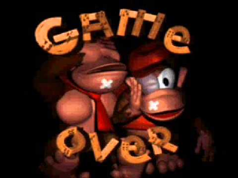 DOnkey Kong country Game over screen with Sonic CD USA ...