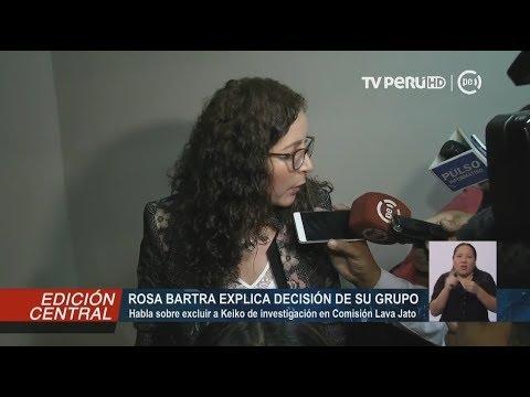 Comisión Lava Jato: Rosa Bartra explica porque Keiko no pasó a condición de investigada