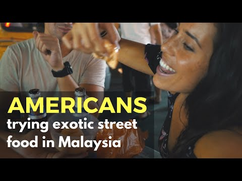 Americans trying Street Food in Kuala Lumpur - Malaysian food challenge