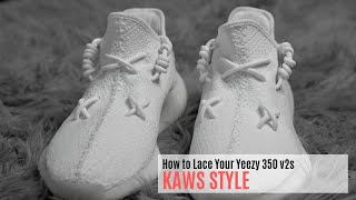 How To Lace Your YEEZY KAWS Style