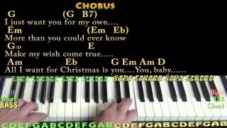 All I Want For Christmas Is You (Mariah Carey) Piano Cover Lesson with Chords/Lyrics