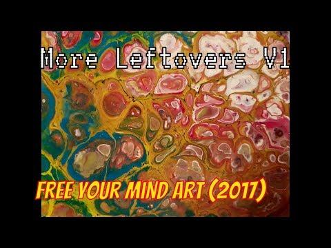 Fluid  Art  Acrylic Painting  Dirty  pour ' More  leftovers  V1 ' Stuart Wimbles  Free Your Mind Art