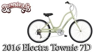 2016 Electra Townie 7D - Step Through Women's Bike - Available at Bumsteads!