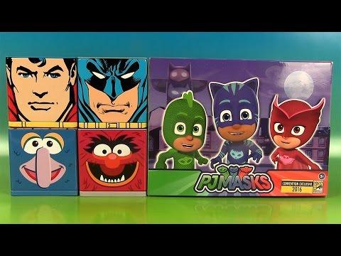 Pyjamasques PJ Masks Figurines Comic Con Cubeez Superman Batman Surprises