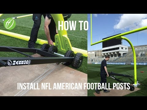 Harrod UK install NFL American Football Posts at Croke Park.