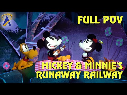 FULL POV - Mickey & Minnie's Runaway Railway at Disney's Hollywood Studios