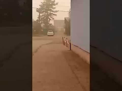 Киренск, Ирк. обл. Марсианский пейзаж. Все задыхаются) Не видно даже солнца.