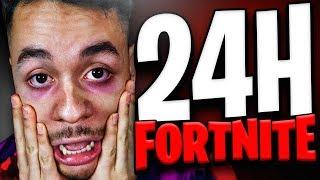 24 HORAS JUGANDO FORTNITE...