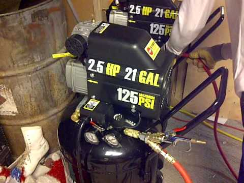 How To Link Two Compressors Together With My 21 Gallon