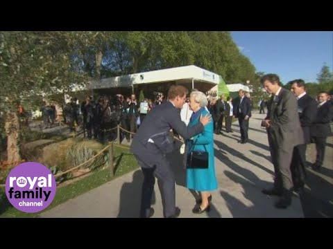 Prince Harry shows the Queen around Chelsea Flower Show