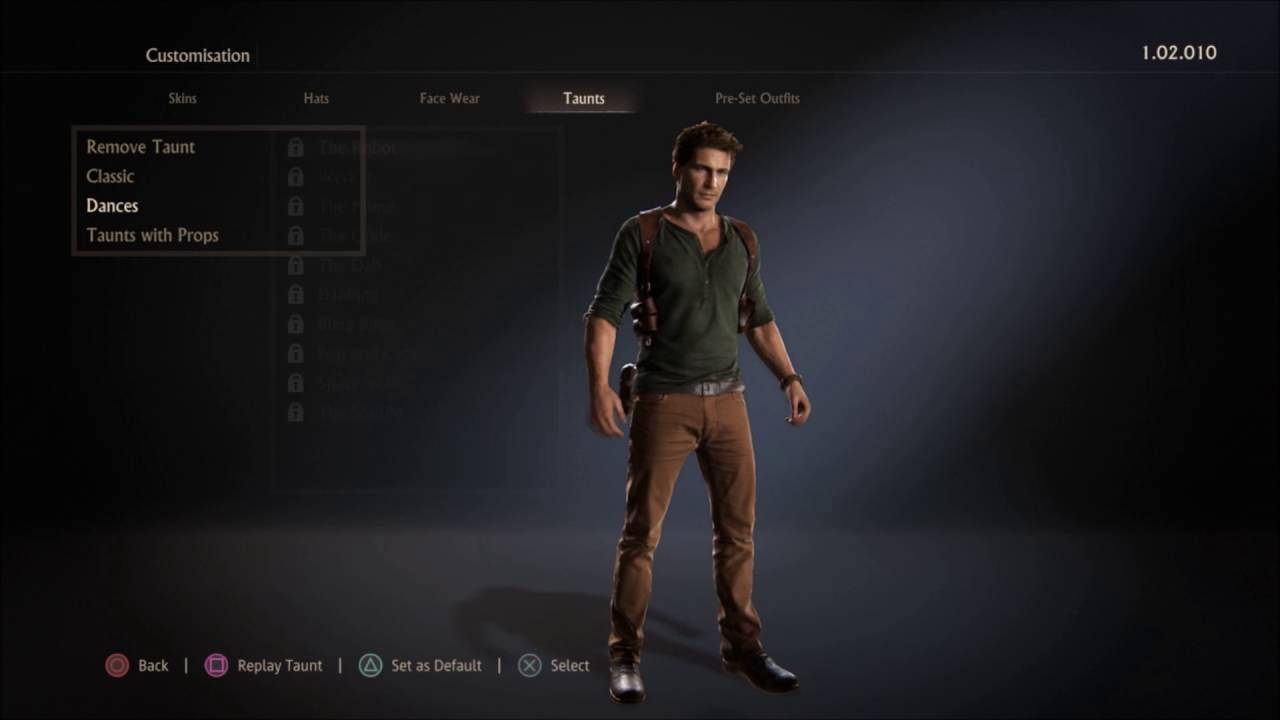 Uncharted 4 Multiplayer All Customisations Nathan Drake Youtube