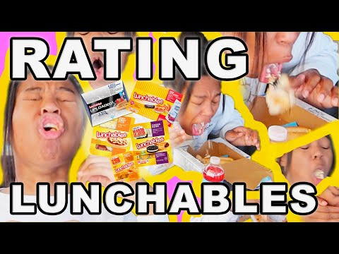 BACK TO SCHOOL LUNCHABLES REVIEW MUKBANG