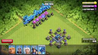 Clash of clans MAX 5000 Electro Dragon Attack