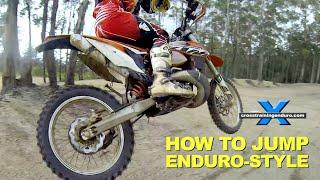HOW TO JUMP DIRT BIKES (MIN & MAX AIR) Cross Training Enduro