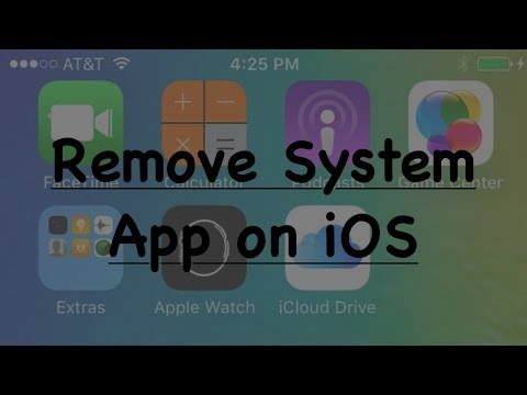 How to delete System apps on any iOS version ( Delete Orginal App )