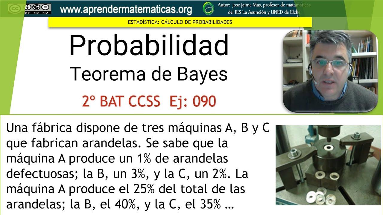 Teorema de bayes tres m quinas 2 bat ccss2 04 090 jos jaime mas