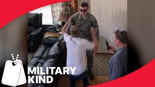 Little brother prank backfires with big brother surprise